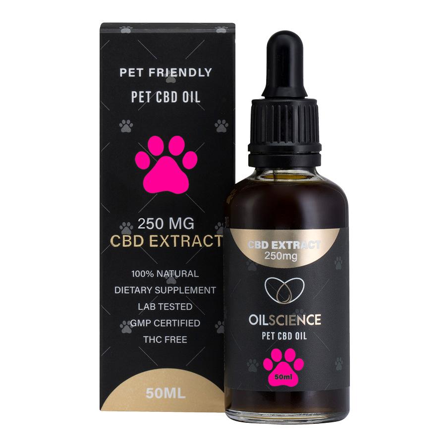 Oil Science 250mg Pet CBD Oil Drops – 50ml Tincture
