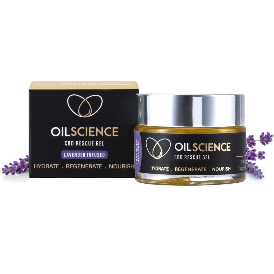 Oil Science CBD Rescue Gel – Lavender – 30ml Jar